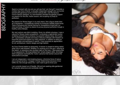 Sample Web Design for Independent Escort