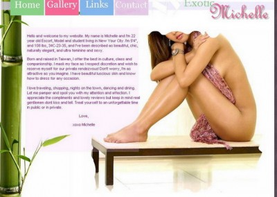 Website design for Independent Escort